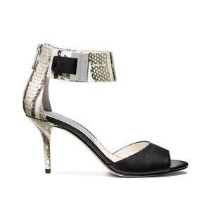 Michael Kors Guliana Black White snakeskin heels